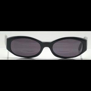 Vintage Anne Klein Black Oval Sunglasses Frames